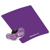 Fellowes® 9183401 Gliding Palm Support with Microban® Protection, Purple - Pkg Qty 4