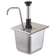 Server Stainless Steel Pump For A 1/6-Size Steam Table Pan