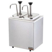 Server 79890 - Insulated Bar, 2 Stainless Steel Pumps & 2 Deep Fountain Jars