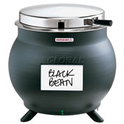 Server 11 QT Kettle Shaped Soup Warmer, Black