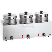 Server Triple Food Server w/ 4 QT (3.8 L) Insets, Water Bath Warmer