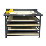 "Strong Hold Print Workstation - 56""W x 38""D x 36""H"