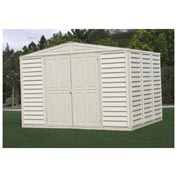 "WoodBridge Vinyl Outdoor Storage Shed 00284, 10'5""W X 7'10""D X 7'1""H, Includes Foundation"