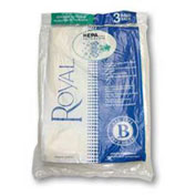 Royal Commercial Type B, HEPA-Type Disposable Bags - 3 per Pack - Pkg Qty 2
