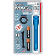 Maglite® M2A11C 2 Cell AA Mini Flashlight & Accessory Combo Blue