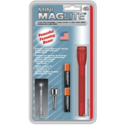Maglite® M3A036 2 Cell AAA Mini Flashlight Red