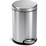 simplehuman® Mini Round Step Can - 1-1/5 Gallon Brushed SS