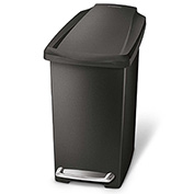 simplehuman® Slim Plastic Step Can - 2-3/5 Gallon Black