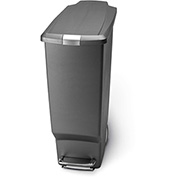 simplehuman® Slim Plastic Step Can - 10-1/2 Gallon Gray