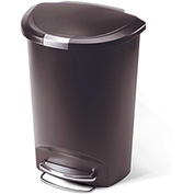 simplehuman® Semi Round Plastic Step Can - 13 Gallon Mocha