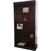 "Jefferson Traditional Bookcase 72"" H, Mahogany"