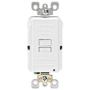Leviton GFRBF-W SmartlockPro, Blank Face w/Indicator Light, 20A, Self Testing, White