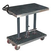 Vestil Stainless Steel Hydraulic Post Lift Table HT-10-2036A-PSS 20x36 1000 Lb.