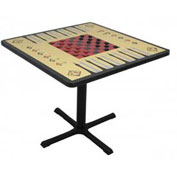 "Allied Plastics Square Game Table with Pedestal Base - 36""W x 36""L"