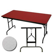 "Allied Plastics Folding Table - Adjustable Height - 30""W x 72""L - Grey Nebula"