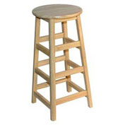 "Stools - Allied Plastics Hardwood Stool - 30"" High"