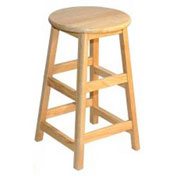 "Stools - Allied Plastics Hardwood Stool - 24"" High"