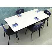 "Whiteboard Activity Table 24"" x 48"" Rectangle, Juvenile Adjustable Height"