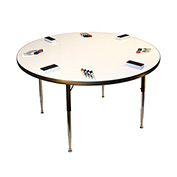 "Whiteboard Activity Table 36"" Diameter Circle, Juvenile Adjustable Height"