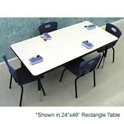 "Whiteboard Activity Table 36"" X 36"" Square, Standard Adjustable Height"