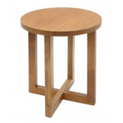 "Regency End Table - 21"" Round - Medium Oak - Chloe Series"