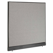 "Interion™ Office Cubicle Partition Panel with Raceway, 60-1/4""W x 46""H, Gray"