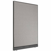 "Interion™ Office Cubicle Partition Panel with Raceway, 48-1/4""W x 64""H, Gray"