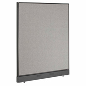 "Interion™ Office Cubicle Partition Panel with Raceway, 48-1/4""W x 46""H, Gray"