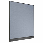 "Office Partition Panel with Raceway, 60-1/4""W x 64""H, Blue"
