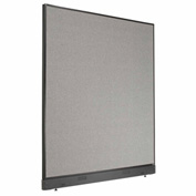 "Interion™ Office Cubicle Partition Panel with Raceway, 60-1/4""W x 64""H, Gray"