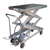 Vestil Stainless Steel Pneumatic Mobile Scissor Lift AIR-1500-D-PSS 1500 Lb.