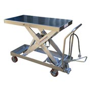 Vestil Stainless Steel Pneumatic Mobile Scissor Lift Table AIR-2000-PSS 2000 Lb.