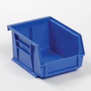 Global™ Plastic Stacking And Hanging Bin - Small Parts Storage - 4-1/8 x 5-3/8 x 3, Blue - Pkg Qty 24