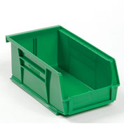 Global™ Plastic Stackable Bin 4-1/8 x 7-3/8 x 3, Green - Pkg Qty 24