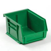 Global™ Plastic Stackable Bin 4-1/8 x 4-1/2 x 3, Green - Pkg Qty 24
