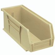 Global™ Stackable Storage Bin 4-1/8 x 10-7/8 x 4, Beige - Pkg Qty 12