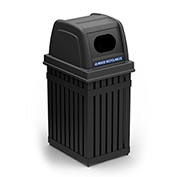 ArchTec Parkview Single Trash Container - Black, Oval Opening 72700199