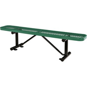 "72""  Expanded Metal Mesh Flat Bench Green"