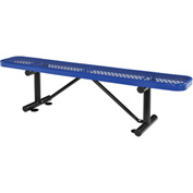 "72""  Expanded Metal Mesh Flat Bench Blue"