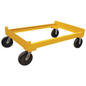 Vestil Portable Cart for 3 Drum Storage Rack DR-CART-3 2400 Lb. Capacity