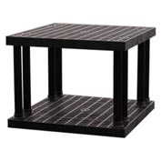 "Structural Plastic Vented Shelving, 36""W x 36""D x 27""H , Black"