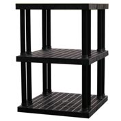 "Structural Plastic Vented Shelving, 36""W x 36""D x 51""H, Black"