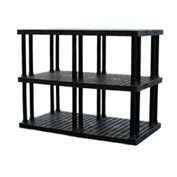 "Structural Plastic Vented Shelving, 66""W x 36""D x 51""H, Black"
