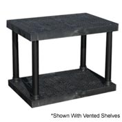 "Structural Plastic Solid Shelving, 36""W x 24""D x 27""H, Black"