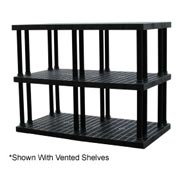 "Structural Plastic Solid Shelving, 66""W x 36""D x 51""H, Black"
