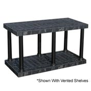 "Structural Plastic Solid Shelving, 66""W x 24""D x 27""H, Black"