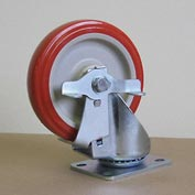 "5"" Polyurethane Swivel Caster with Brake 5125PPY-S-BRK for Little Giant® Carts"