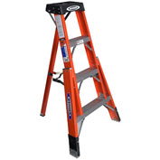 Werner 4' Fiberglass Tripod Step Ladder - FTP6204