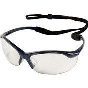 Vapor Safety Eyewear - Clear Anti-Fog, Metallic Blue - Pkg Qty 10