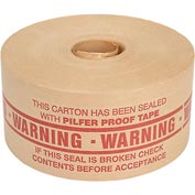 Holland Hi Tech Reinforced Water Activated Tape 72mm x 375' 5 Mil Warning Red - Pkg Qty 8